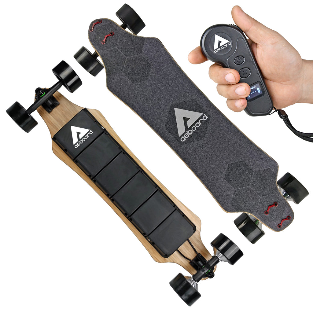 Aeboard AX Plus(105MM Honeycomb wheels) Electric Skateboard Flex Flexible Battery,electric longboard motorized skateboard