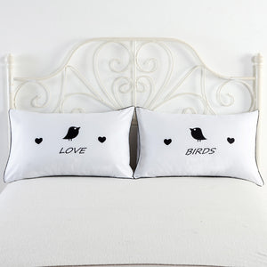 Set of 2 Couples Pillow Cases