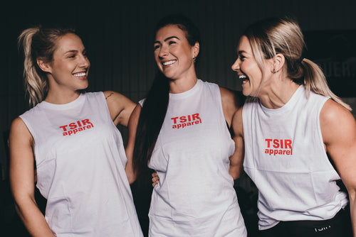 TSIR White Muscle Tank