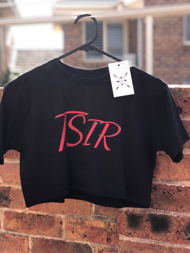TSIR Black With Red Logo Crop
