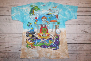 Joey Mars All Over Print Vintage Liquid Blue T-Shirt