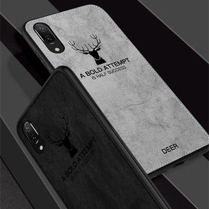 3D Deer Patterned Cloth Silicone Case For HUAWEI