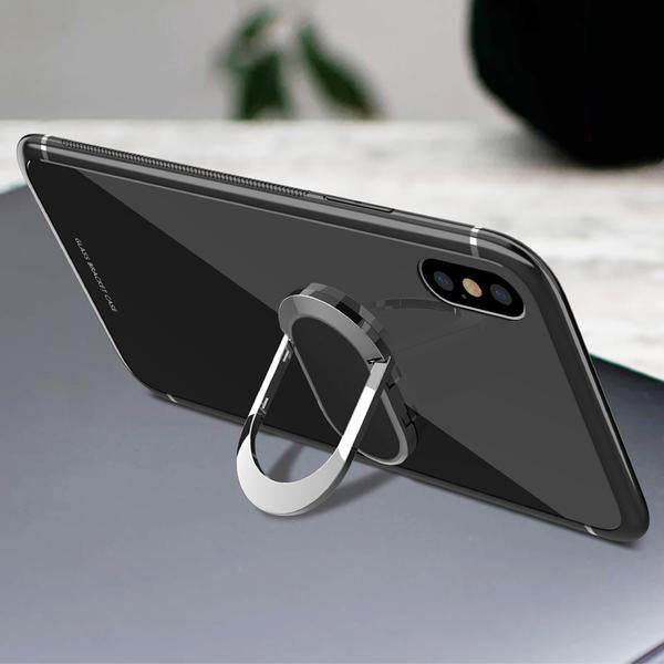 iPhone Case Tempered Glass Magnetic Car Bracket Case For iPhone 6S 7 8 Plus X