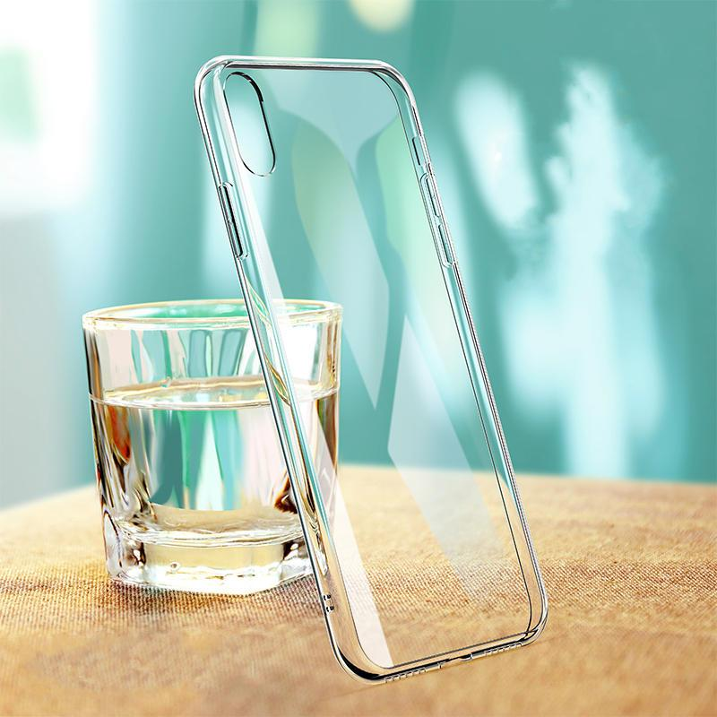 Protective Case for iPhone XS Max 6D Clear Tempered Glass Soft TPU Edge Back Cover