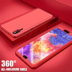 HUAWEI Mate 20 Pro Case Luxury Hard PC 360 Full Cover With Surface soft film Protective Back Cover for HUAWEI P20 P10 Mate20 Mate 10