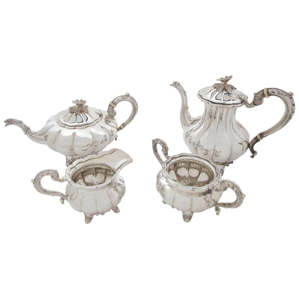 Birks Sterling Silver Four-Piece Tea and Coffee Set