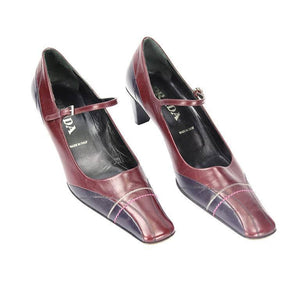 RARE Prada VERO CUOIO Bi-color Leather Pumps