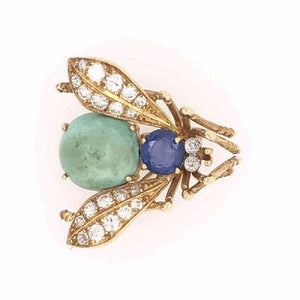 Van Cleef & Arpels Sapphire Diamond Gold Fly Bee Brooch Pin Fine Estate Jewelry