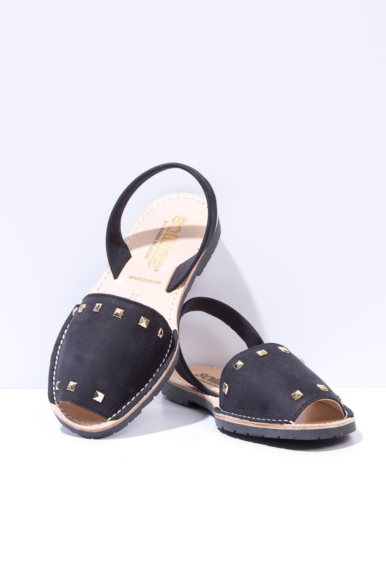 Noche Clavo - Studded Leather Menorcan sandals