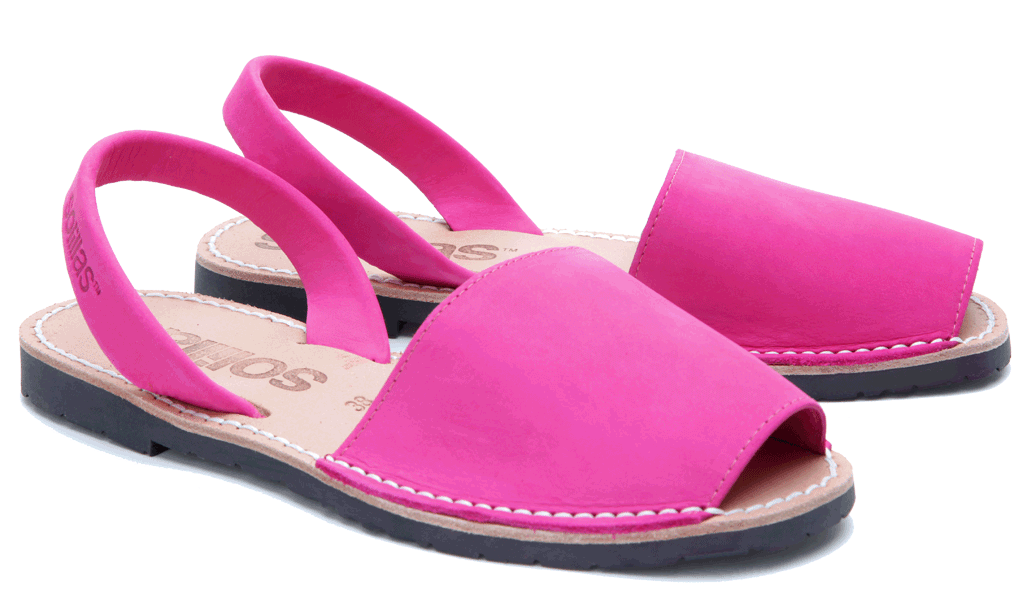 Rosa - Nubuck Leather Menorcan Sandals