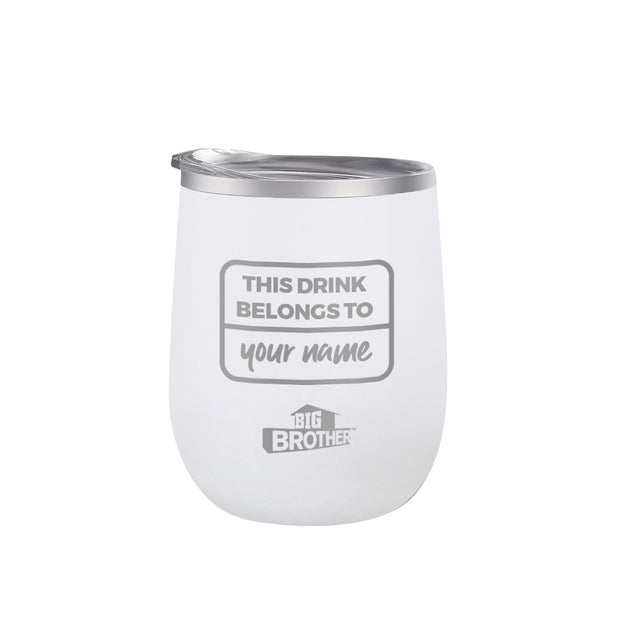 Big Brother Logo Personalized 12 oz Wine Tumbler | Official CBS Entertainment Store