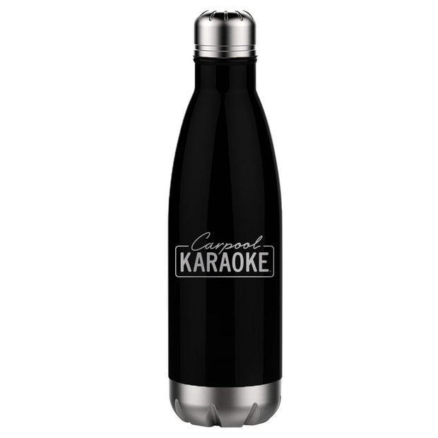 Carpool Karaoke Neon Logo 17 oz Stainless Steel Slim Water Bottle