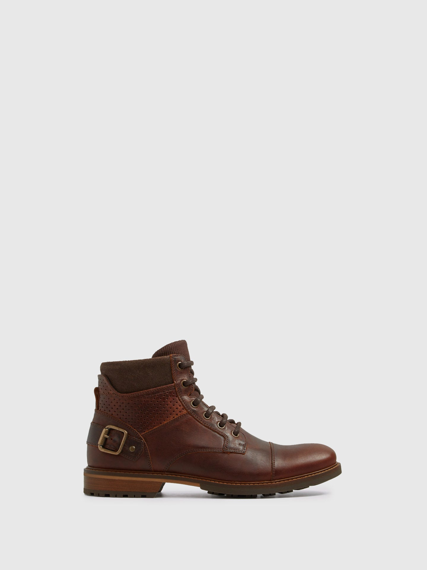 Aldo Maroon Lace-up Boots
