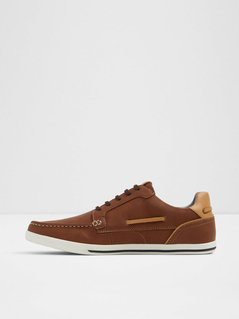 Aldo Maroon Lace-up Trainers