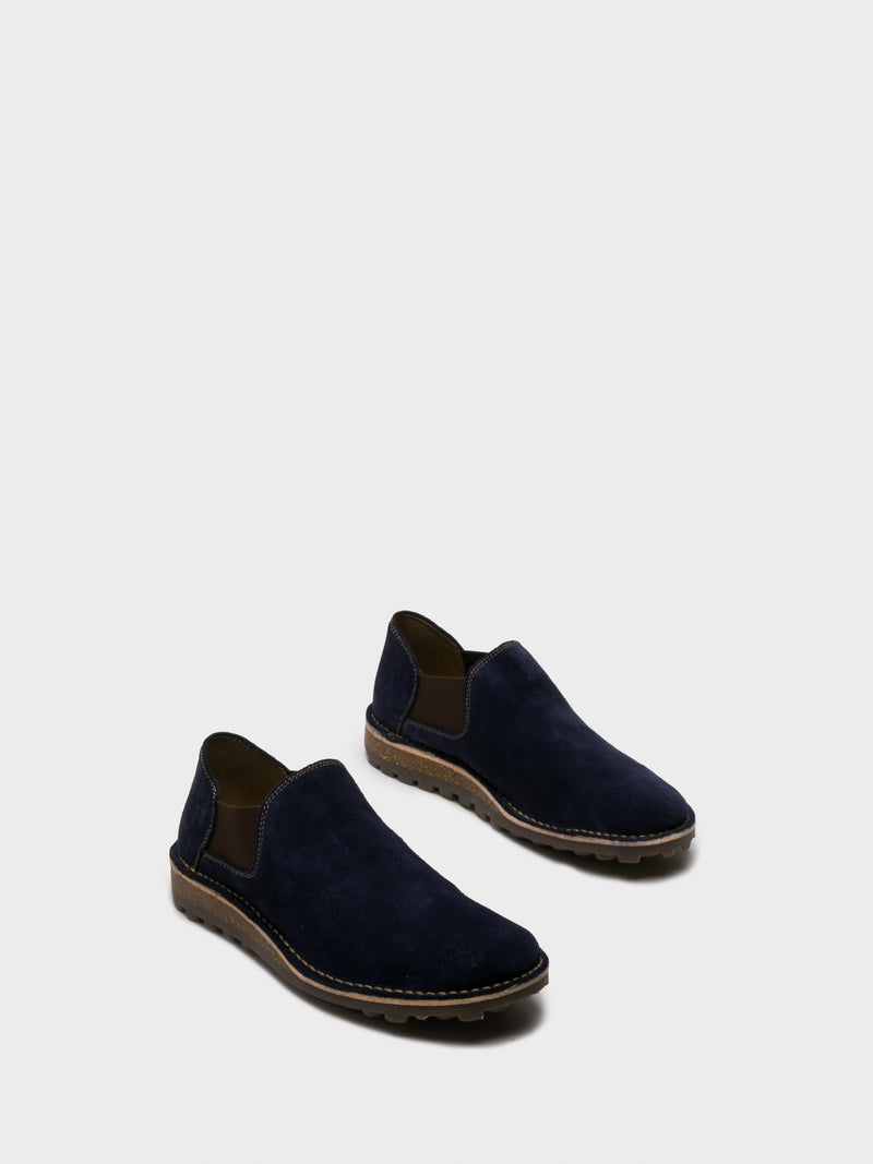 Fly London Blue Round Toe Boots
