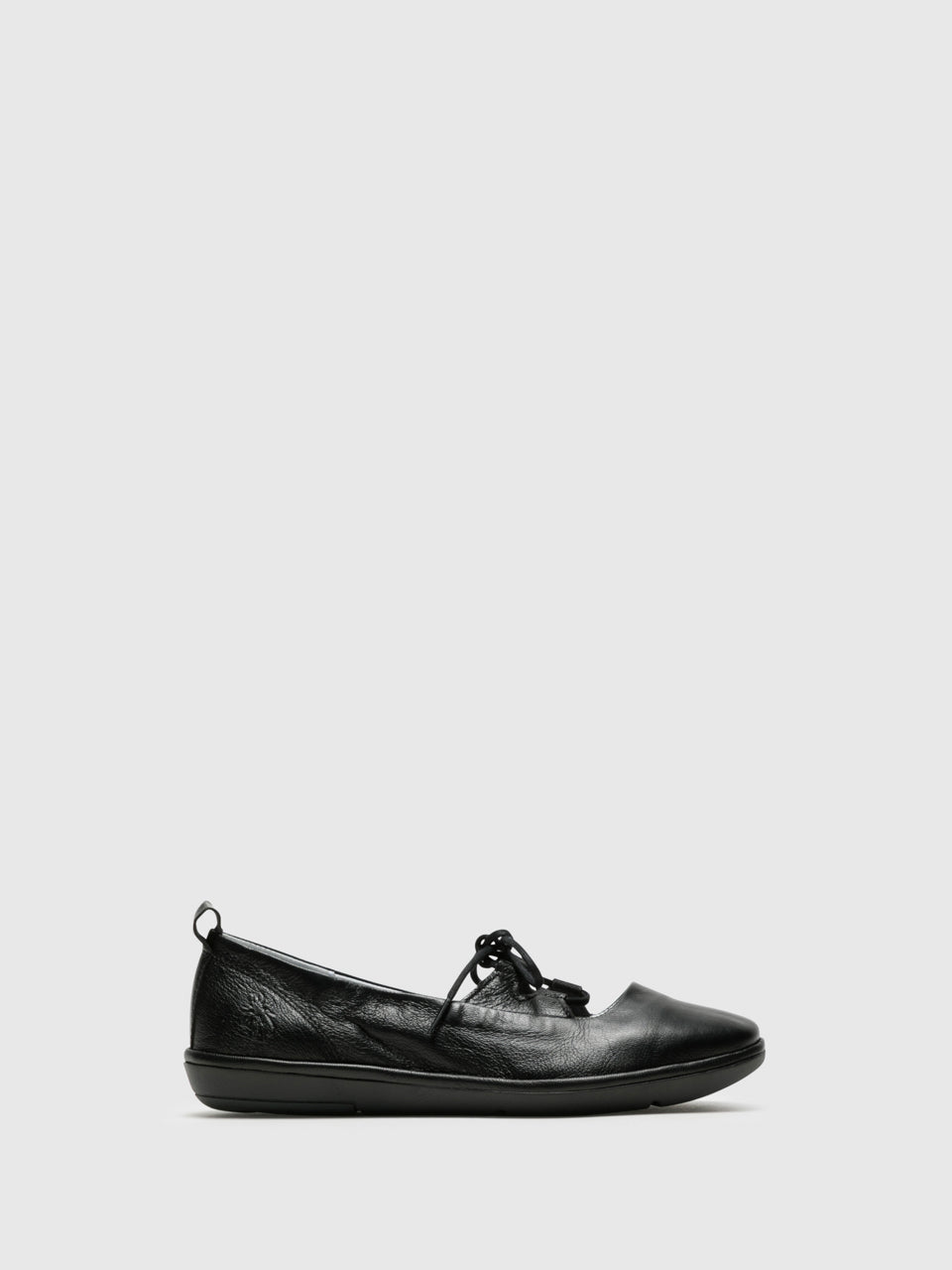Fly London Black Lace-up Ballerinas