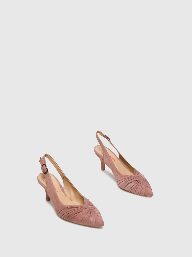 Perlato LightPink Sling-Back Pumps Shoes