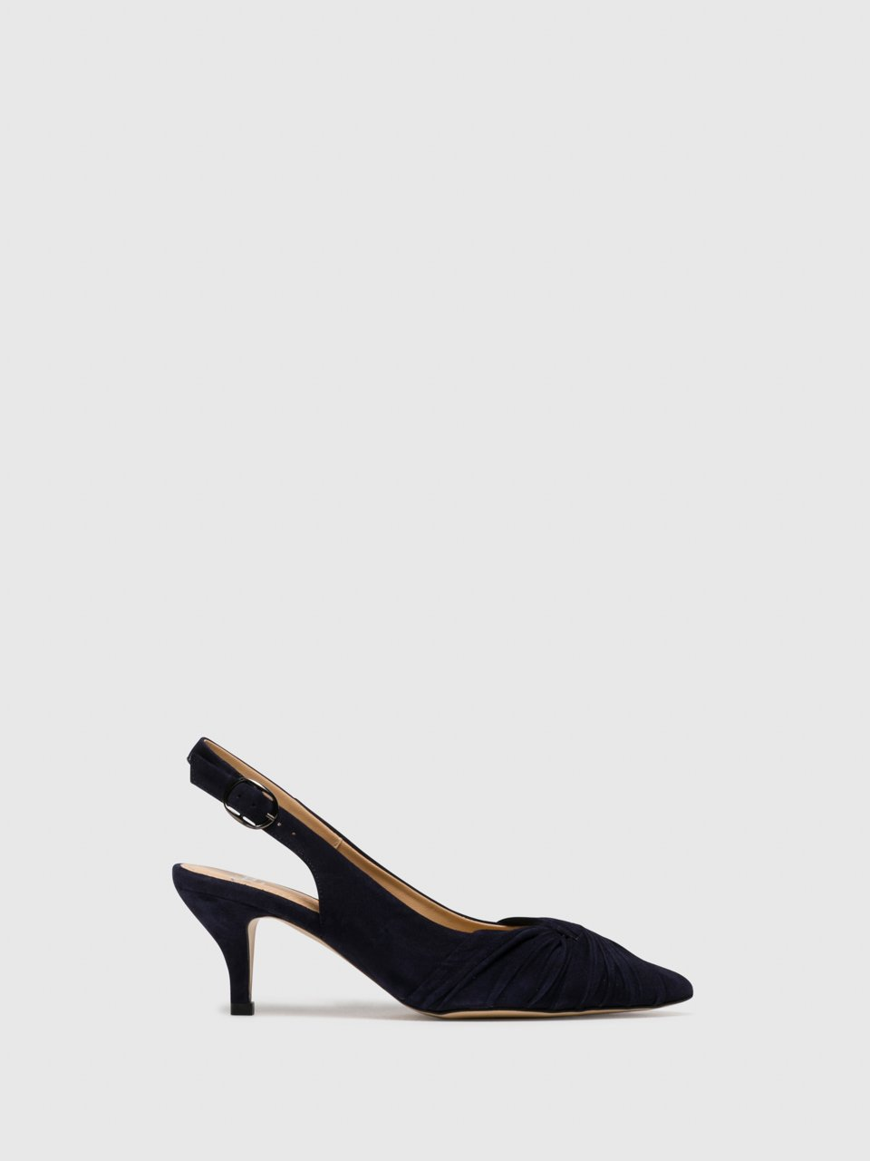 Perlato Navy Sling-Back Pumps Shoes