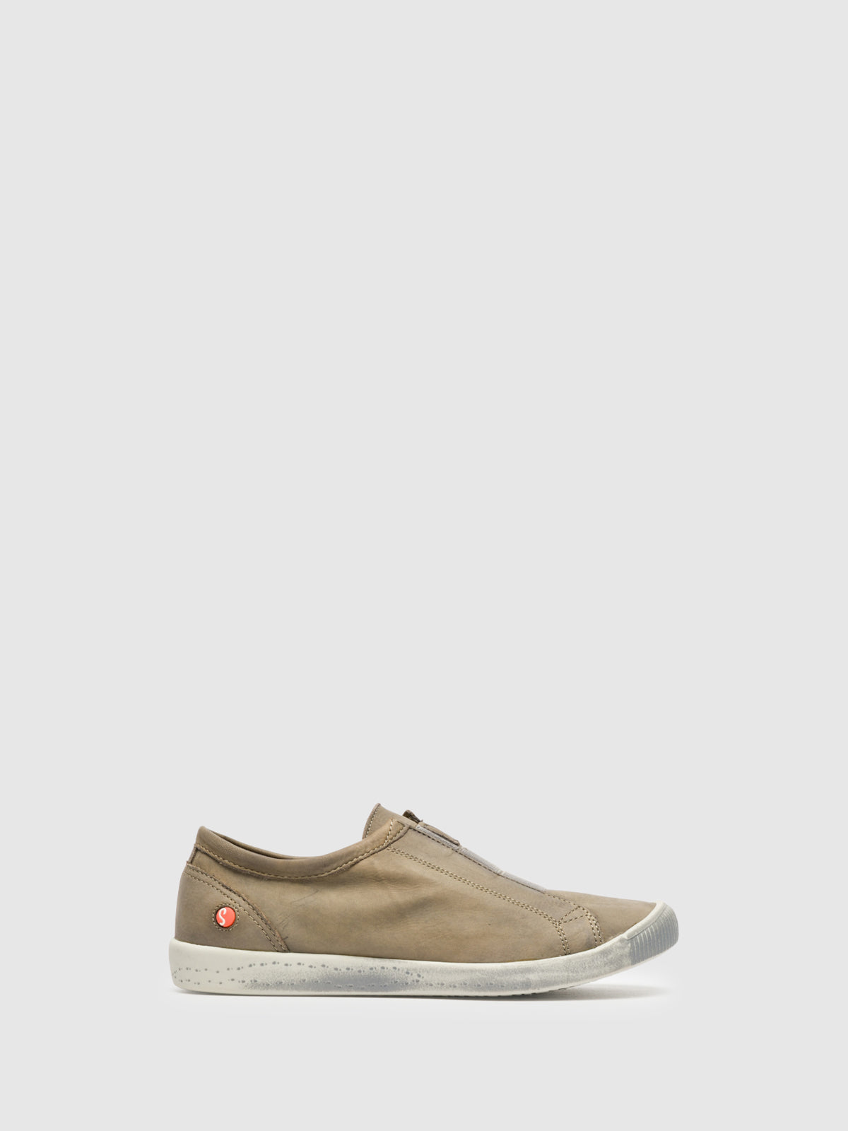SOFTINOS Tan Slip-on Trainers