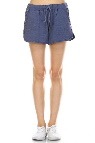 Women's Comfy Elastic Band and Tie Waistline Shorts with Pockets