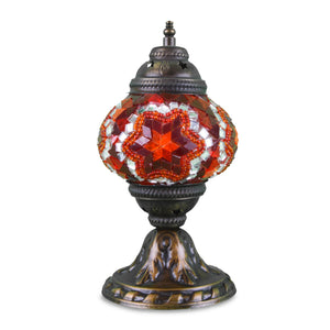 red star pattern Turkish mosaic lamp