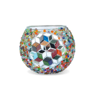 mosaic candle holder | handmade glass candle holder