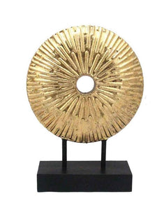 Gold Metal Disc Sculpture