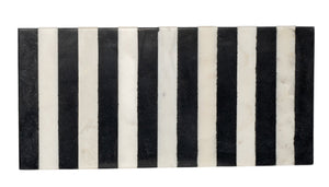 Striped Black & White Marble Board