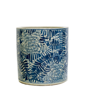 Blue and White Planter