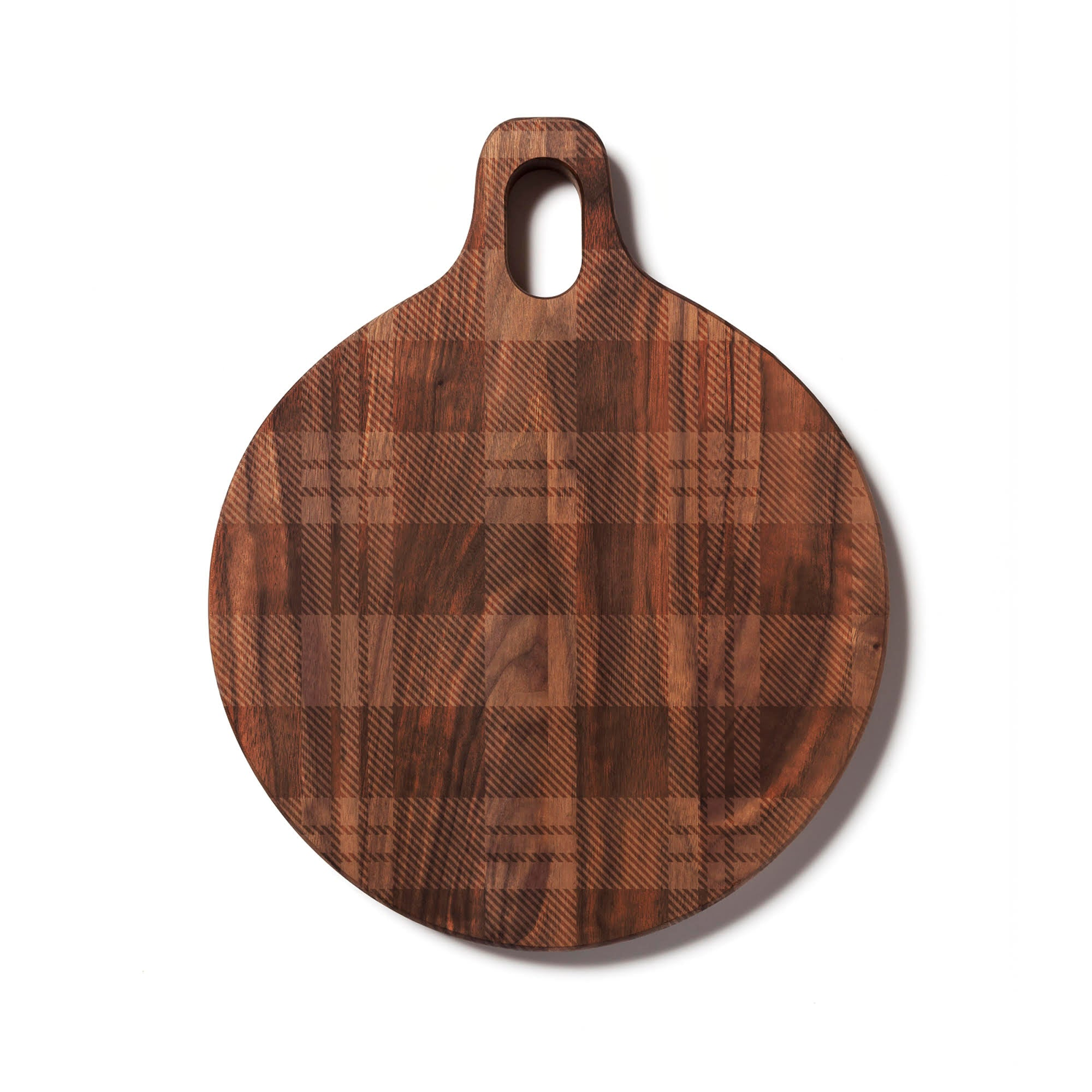 Engraved Plaid Walnut Cutting Board