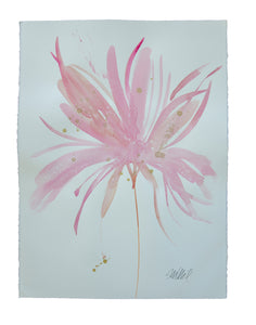 Watercolor abstract floral original art 13