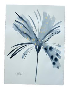 Watercolor abstract floral original art 18