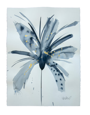 Watercolor abstract floral original art 19