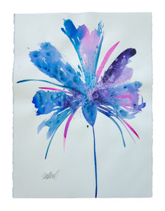 Watercolor abstract floral original art 24