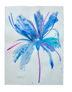 Watercolor abstract floral original art 26