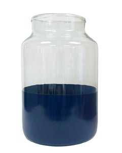Color Block Navy Mason Jar, Medium