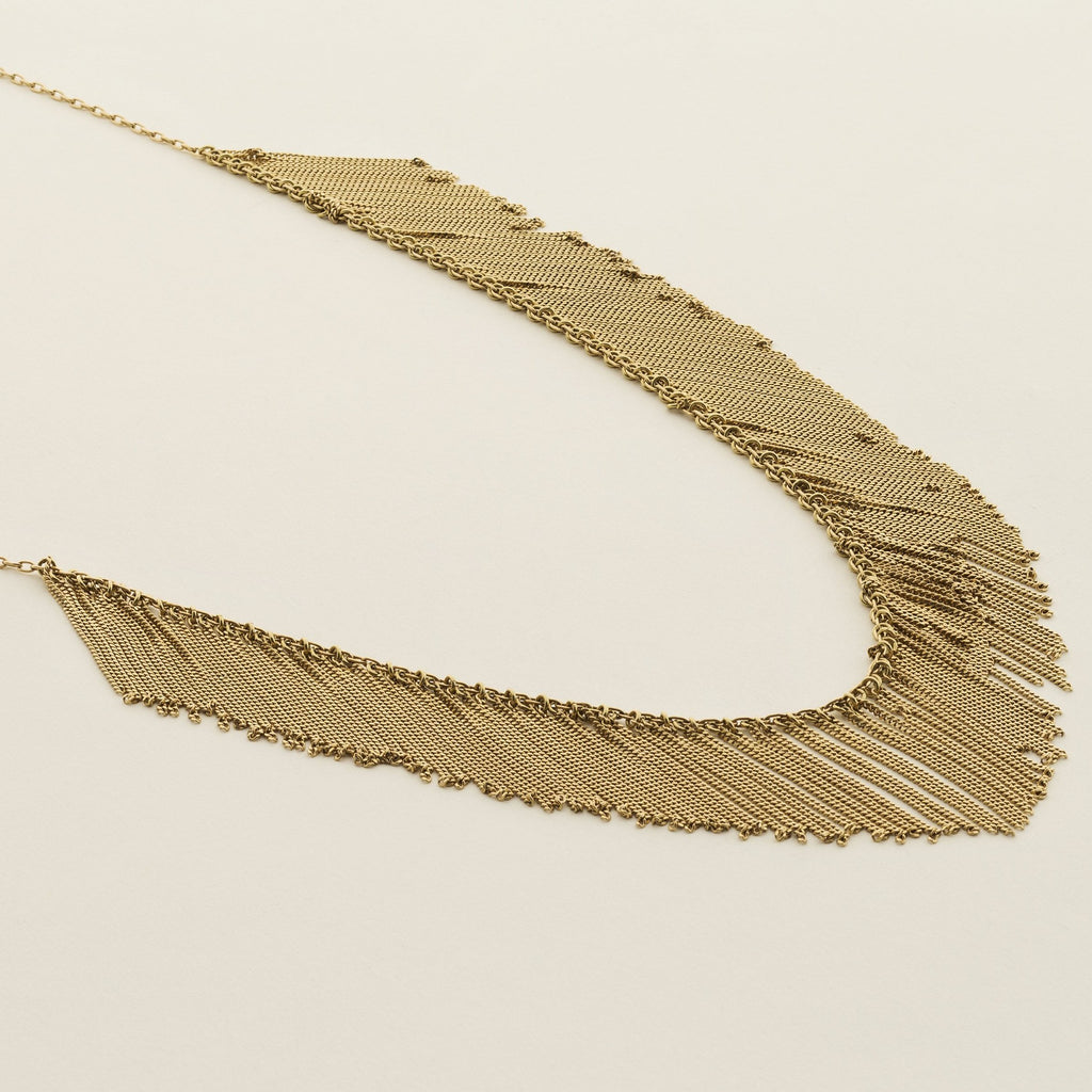 FRINGE NECKLACE - gold plated silver