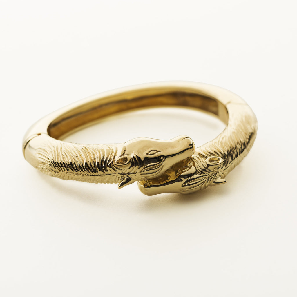 HORSE BANGLE - gold plated silver