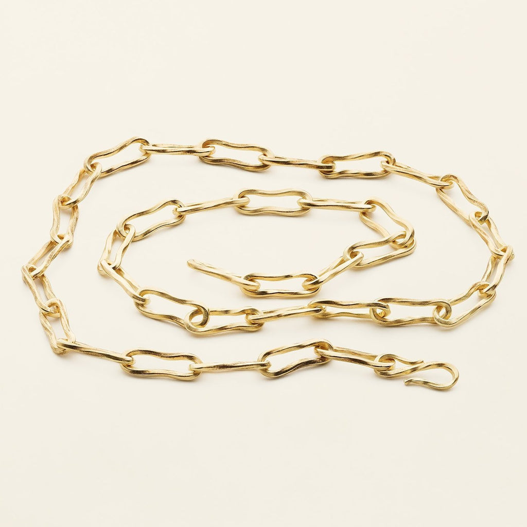 CLASSIC FLOW NECKLACE - gold plated silver