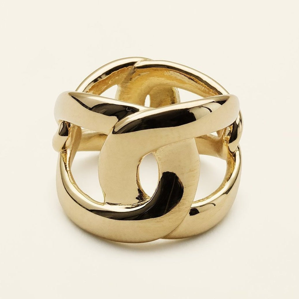 4 TUNE RING - gold plated silver