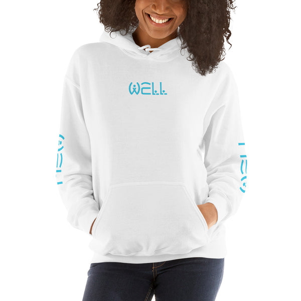 Well Blue Text Hoodie - Well World Official