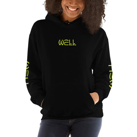 Well Green Text Hoodie - Well World Official