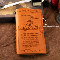 Personalized Leather Journal For Husband/Wife - The Day I Met You My Life Changed