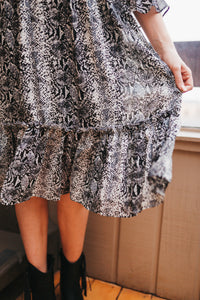 Wellington Snakeskin Midi Dress