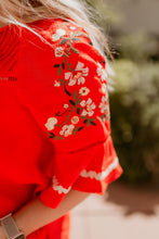 Load image into Gallery viewer, Tuscany Red Embroidered Top