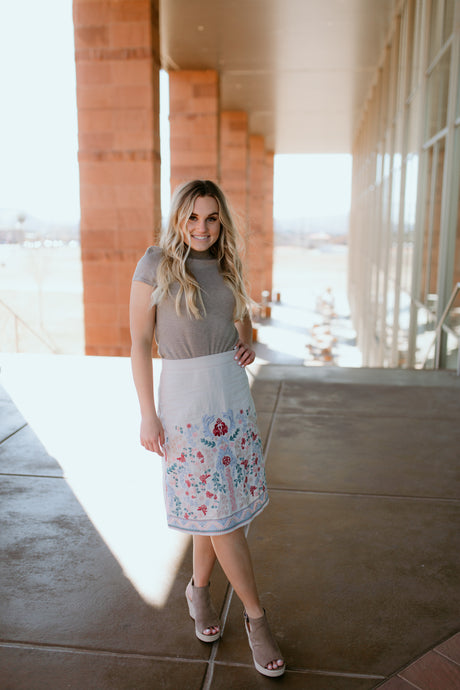 Liguria Embroidered Skirt