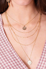 Load image into Gallery viewer, Prati Layered Coin Necklace