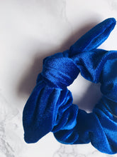 Load image into Gallery viewer, Village Co x ANDi: Royal Blue Scrunchie