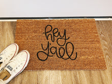 Load image into Gallery viewer, Village Co x Lottie Lane: Hand Painted Hey Y'all Welcome Mat