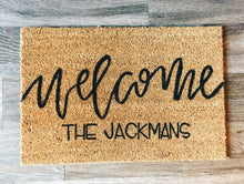 Load image into Gallery viewer, Village Co x Lottie Lane: Hand Painted CUSTOM Welcome Mat